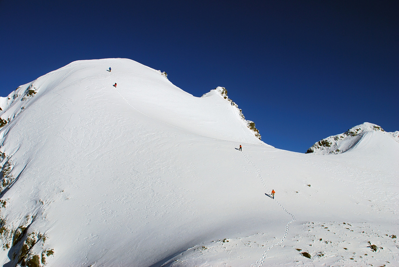 Approaching the summit of Celtic Peak