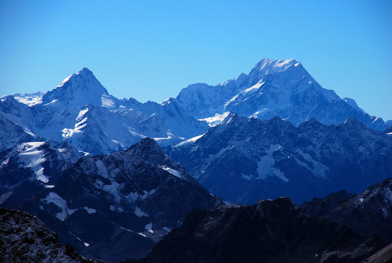 Mt Sefton and Mt Cook from Mt Glencairn