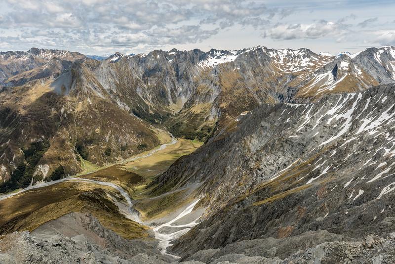 High Burn valley head and Mount Shrimpton