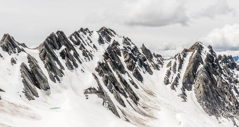 View of Mount Shrimpton from Pt 1960m, McKerrow Range
