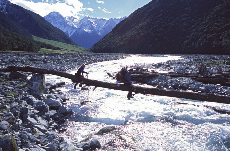 Crossing the South Huxley river