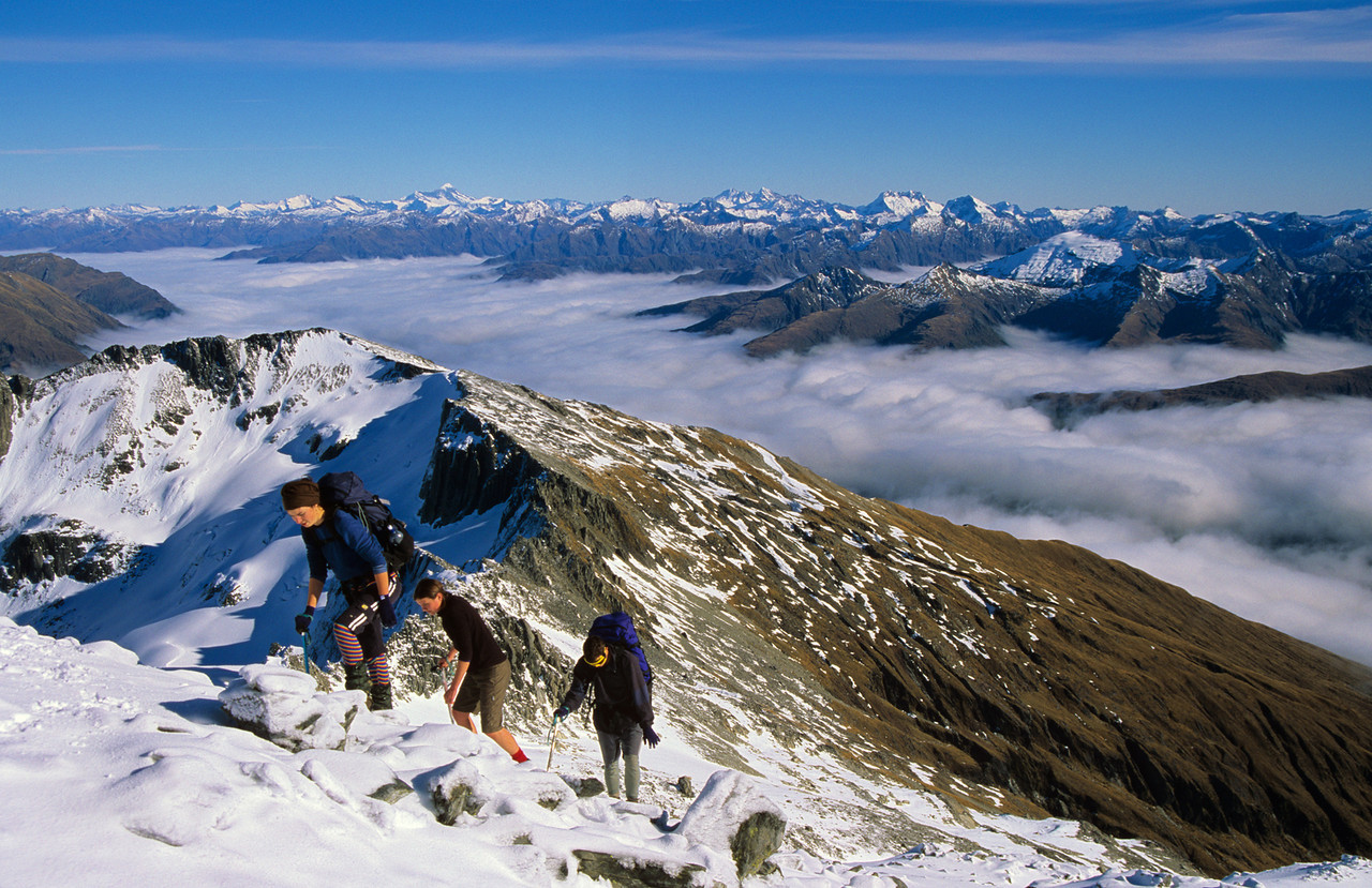 Summiting on Mt Armstrong