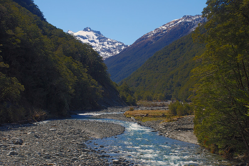 Makarora River and unnamed peak 2005m