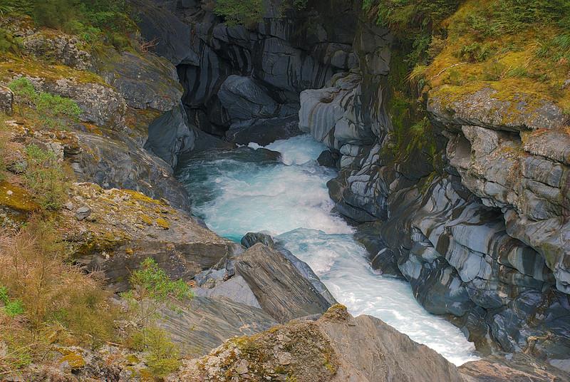 Makarora River gorge