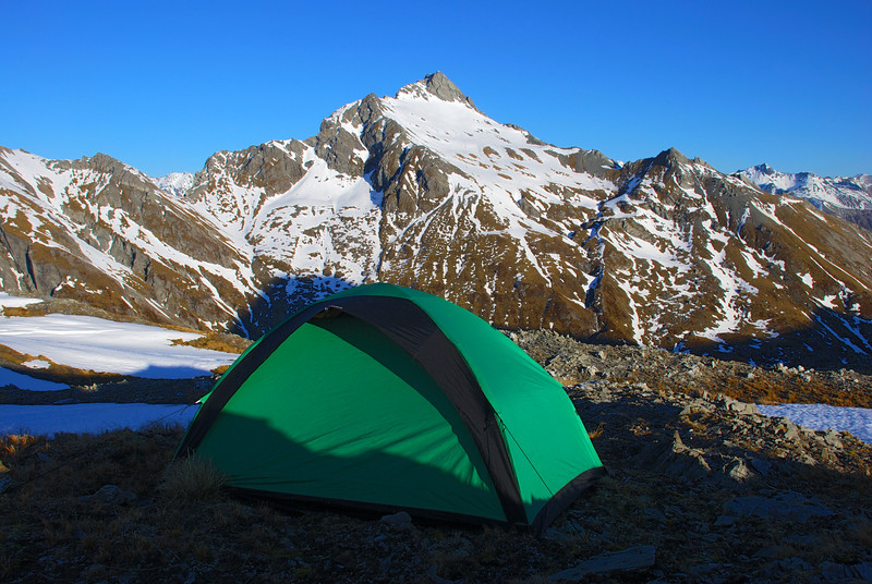 Tent in front of Tent Peak