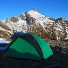 Tent in front of Tent Peak