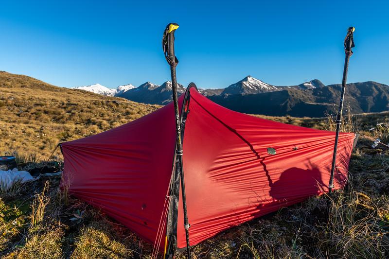 Mataketake Range tops campsite.