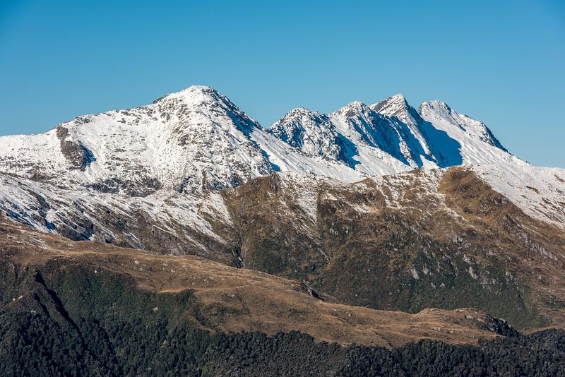 Mount MacFarlane from Pt 1319m, Mataketake Range.