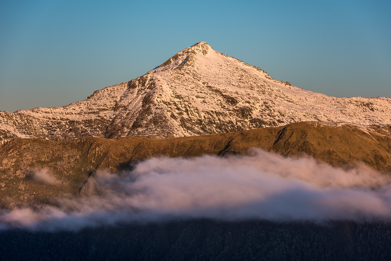 Law Peak at sunset from Pt 1258m, Mataketake Range.