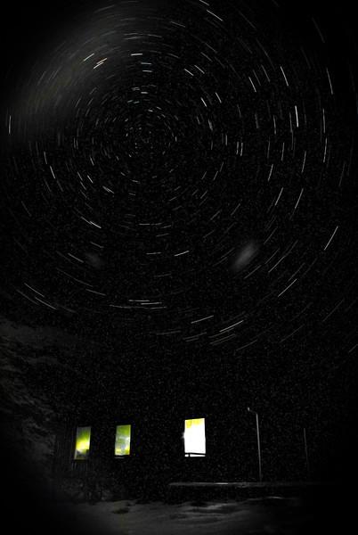 Brewster Hut by night