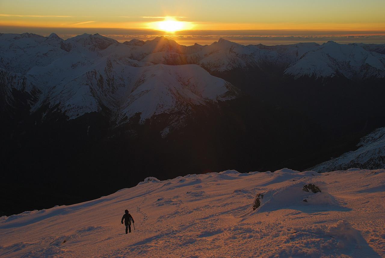 Descending Mt Armstrong
