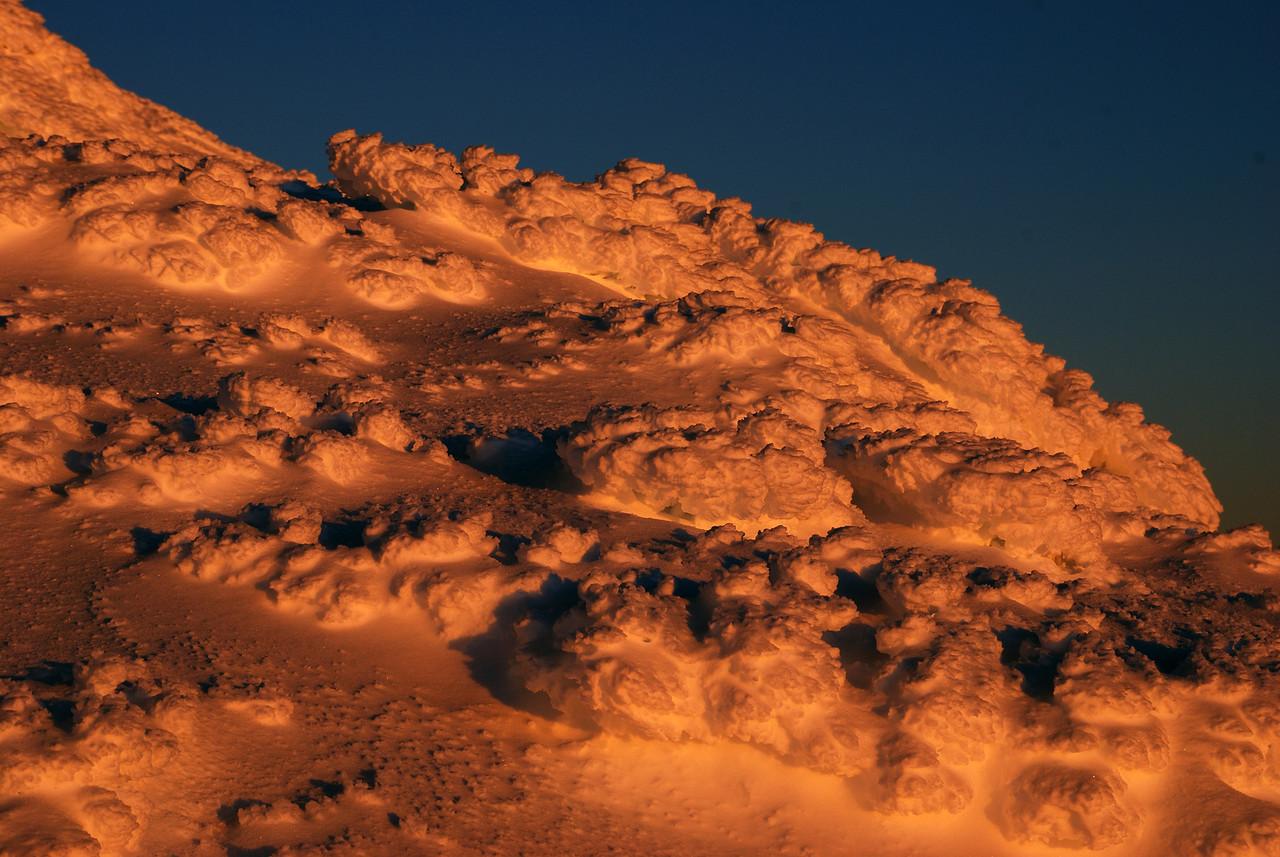 Sastrugi on Mt Armstrong