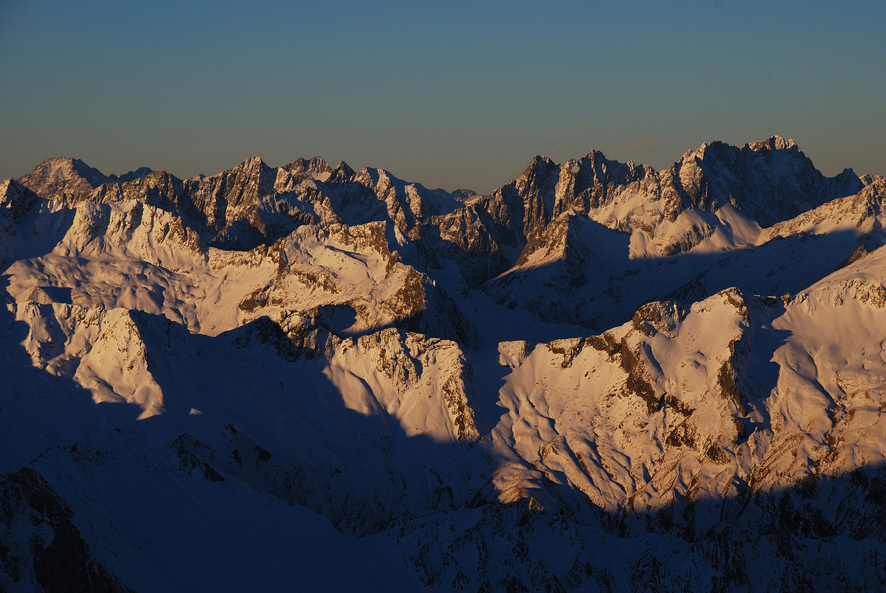 Panorama from Mt Armstrong: Mount Glenmary to Mount Huxley