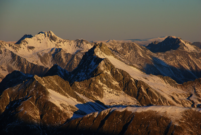 Celtic Peak, Tent Peak and Leaning Mount from Mount Armstrong