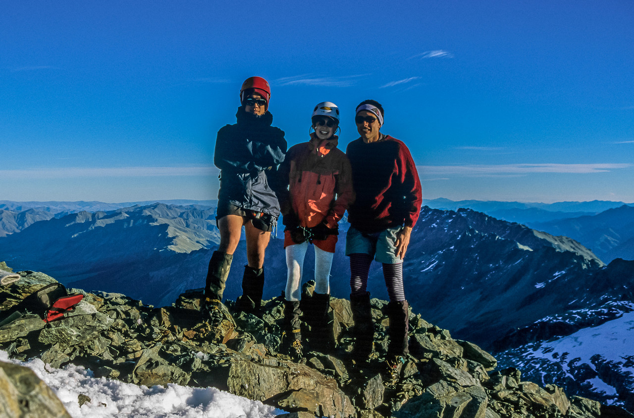 The team on the summit of Mount Barth