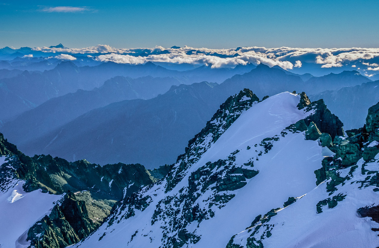 Mount Aspiring from the summit of Mount Barth