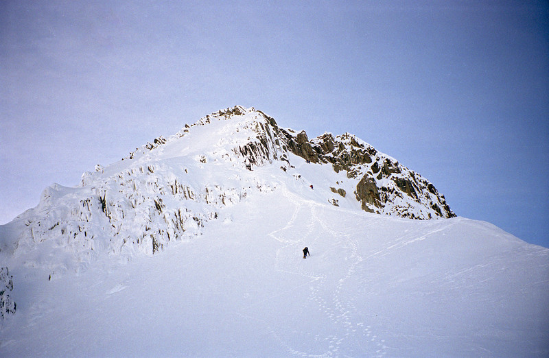 Descending the south face of Mt Brewster