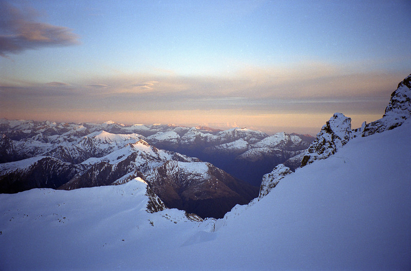 Looking west over Topheavy Peak