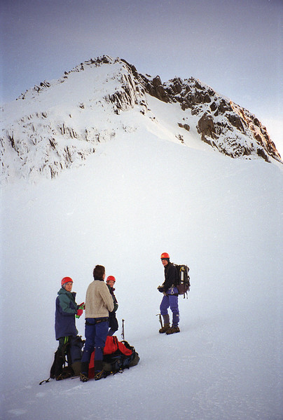 Approaching the south face
