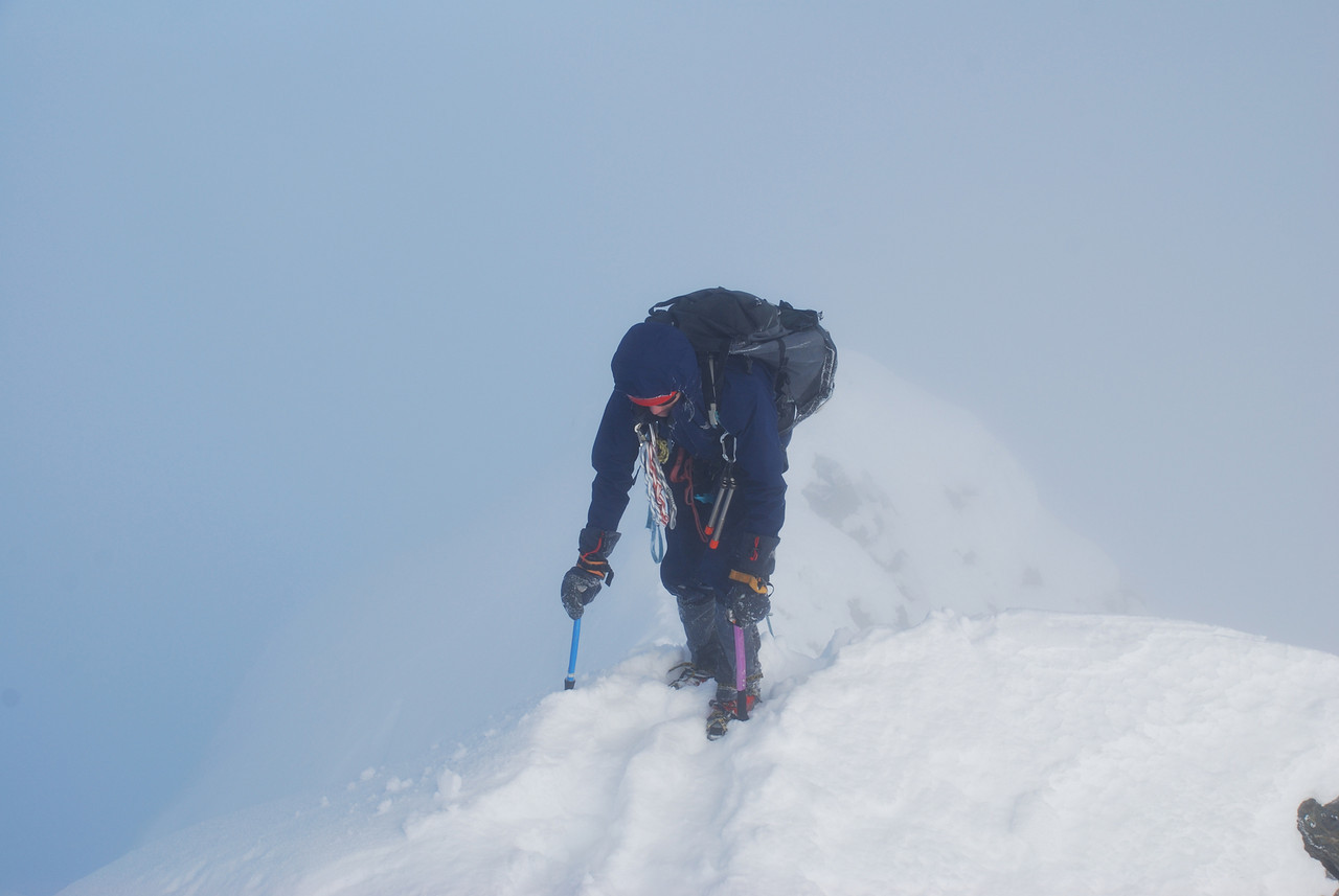 Jono summiting on Mt Brewster