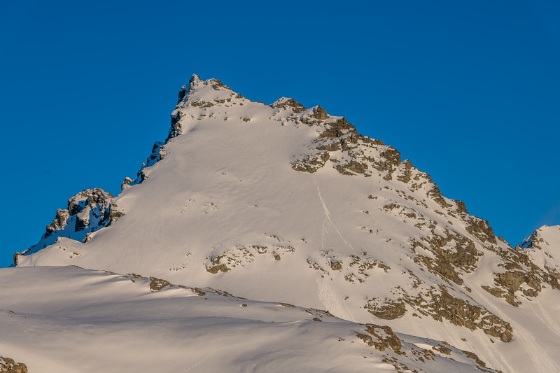 Looking up the east ridge of Mount Brown