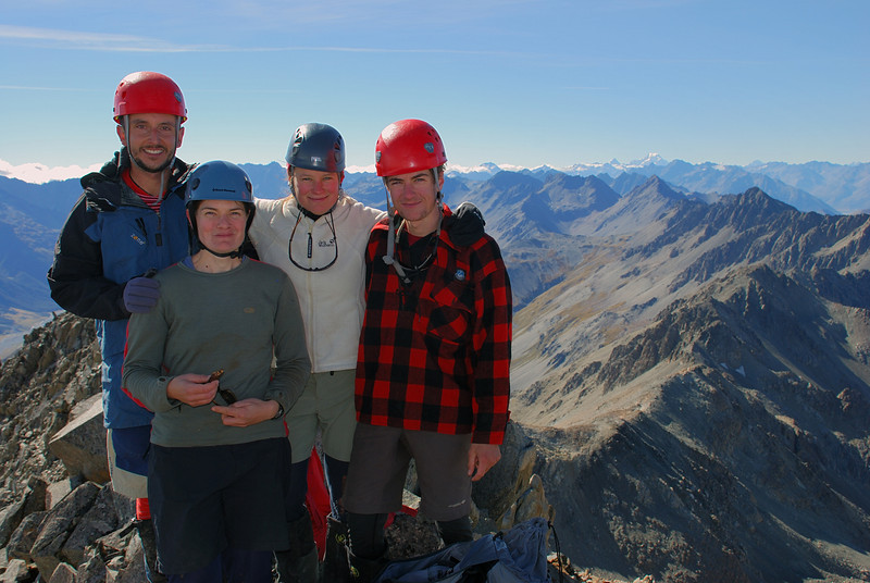 The team on the summit of Mount Saint Mary