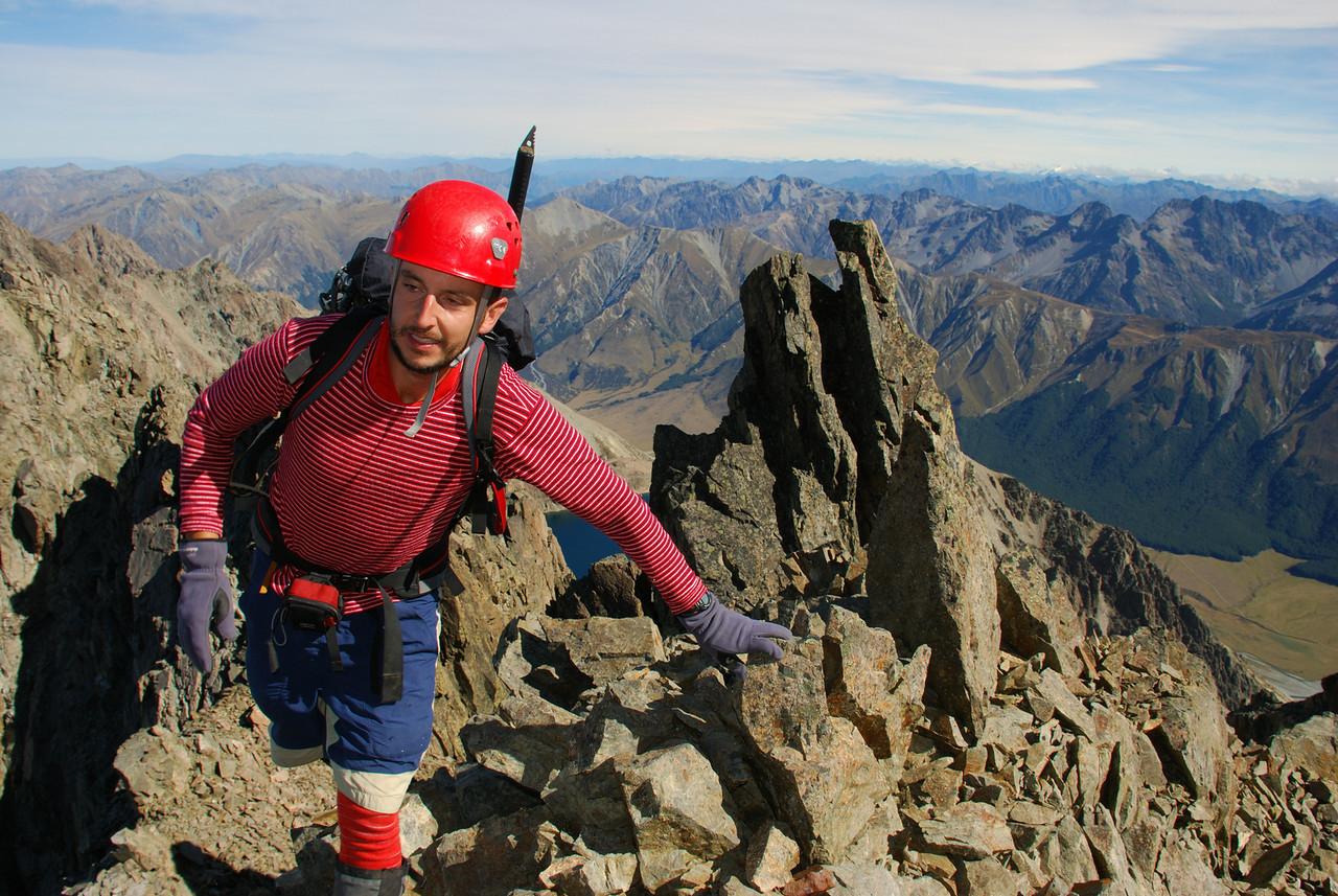 Robert near the summit of Mount Saint Mary