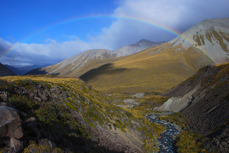 Rainbow over Snowy Gorge Creek