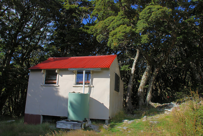 Brodrick Hut, Huxley River north branch.