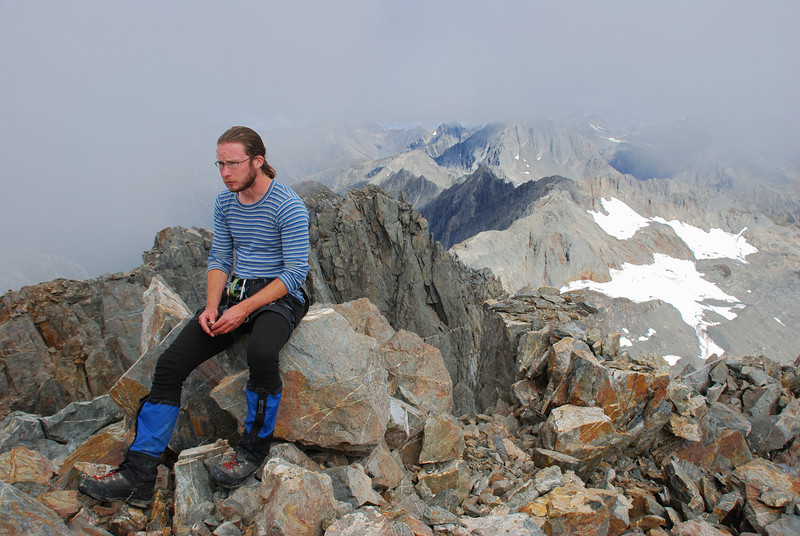 James on the summit of Mount Strauchon