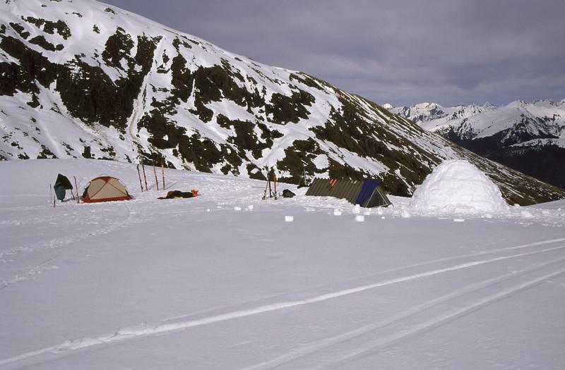 Tent, hut and igloo