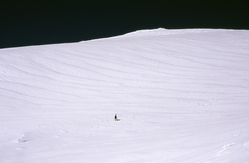 Josh Whale on the slopes of Mt Armstrong