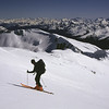 Skinning up Mt Armstrong