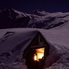 Brewster Hut by night