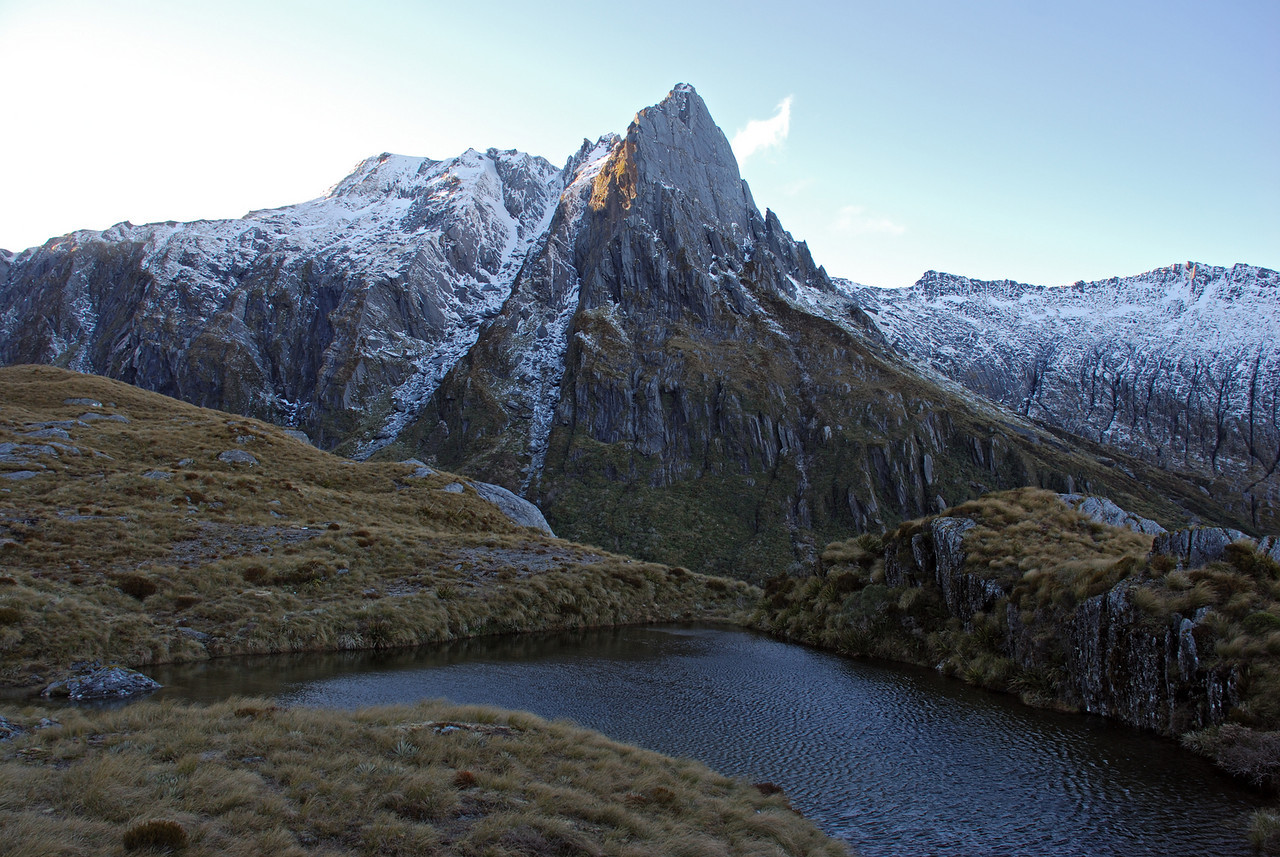 Douglas Spur from the tarn south of Tunnel Creek rock bivvy