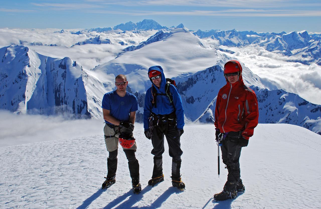 Ben, Mark, Alexis on the summit of Mt Hooker