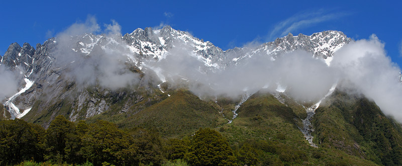 The north face of Mt Hooker and Mt Jack from Harker Torrent