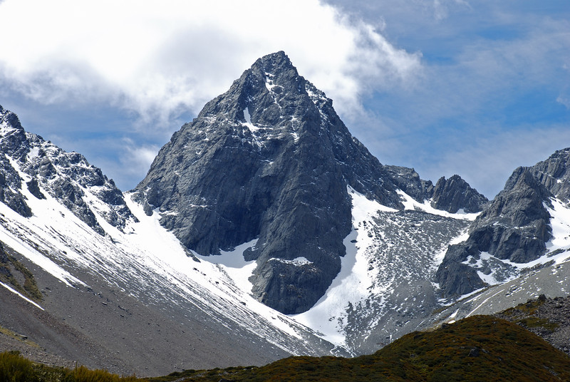 Gunsight Pass and Bruce Peak at the head of the South Temple