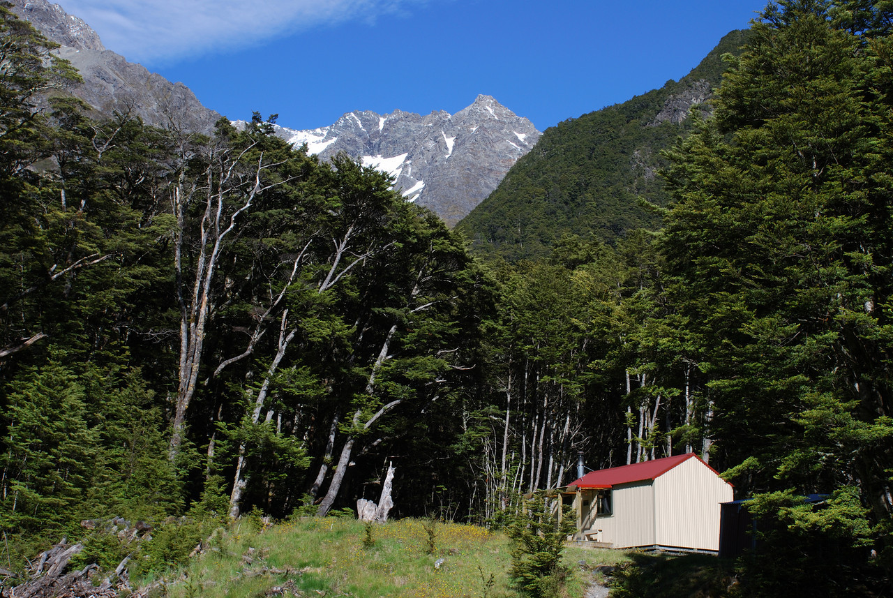 South Temple Hut and Mt Maitland