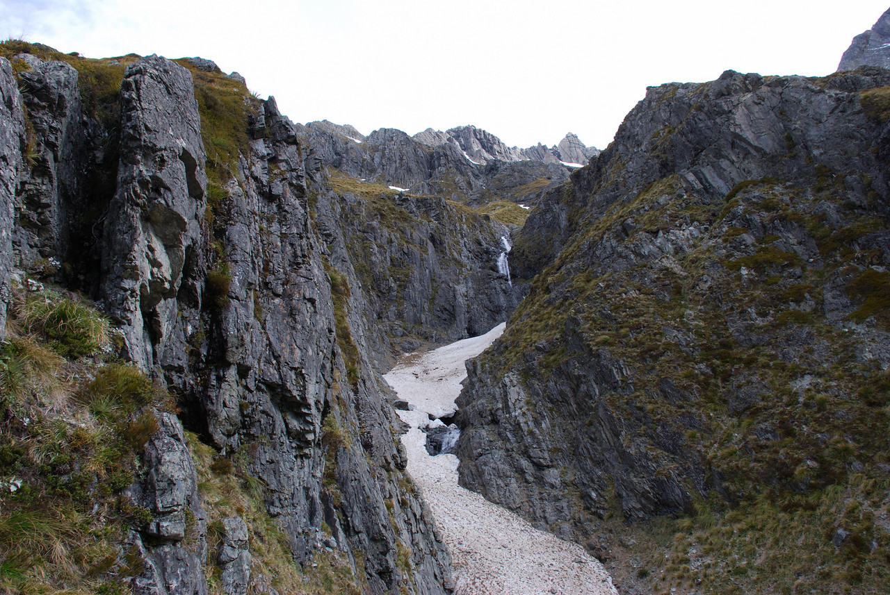 The deep ravine at the head of the South Huxley