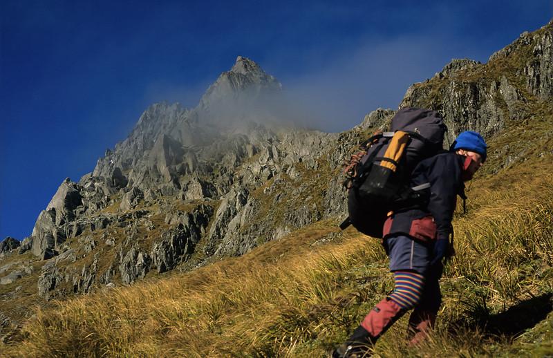 Climbing to Wilson Pass