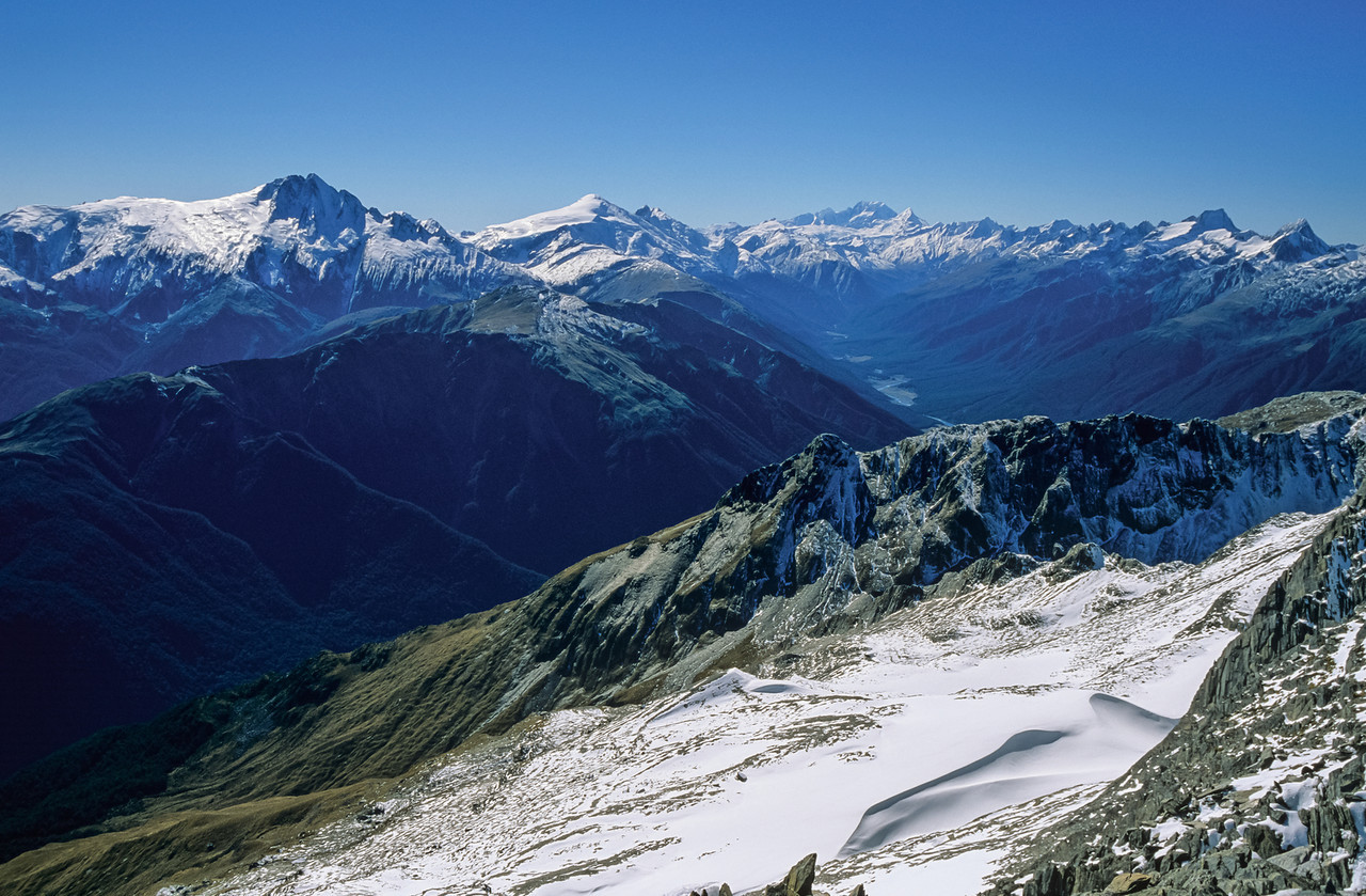 Mt Hooker, Mt Dechen and Mt Cook from Napoleon