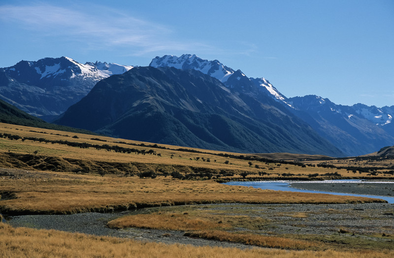 Mount Heim and Mount Barth, Ahuriri River