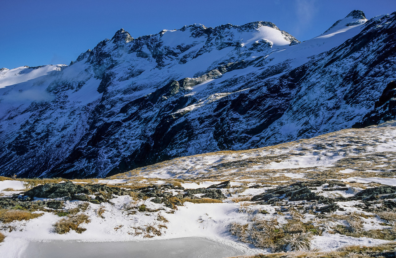 Mount Marshman and Hassing Peak from Wilson Pass