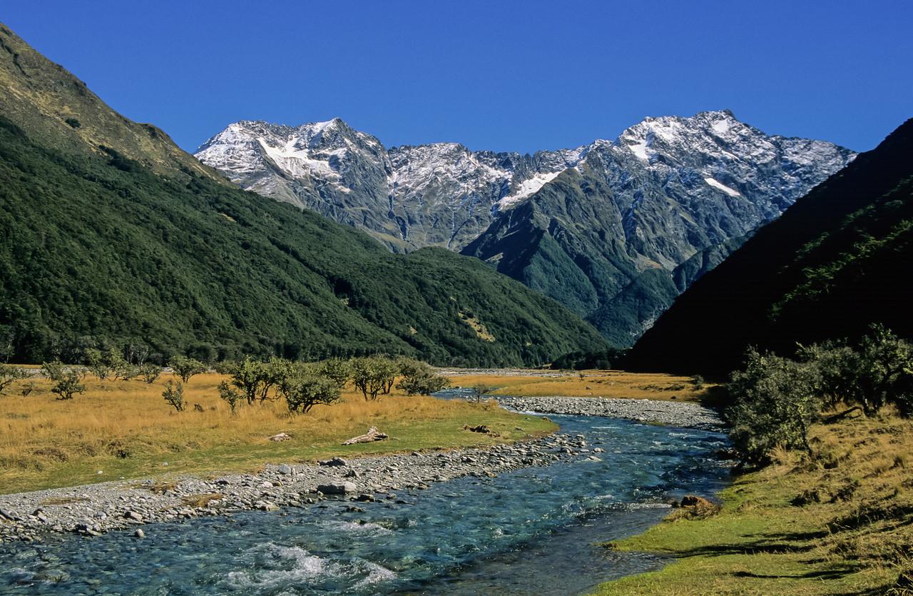 Huxley River and Anita Peak