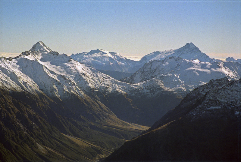 View across the Huxley: Mt Strauchon and Mt Hooker