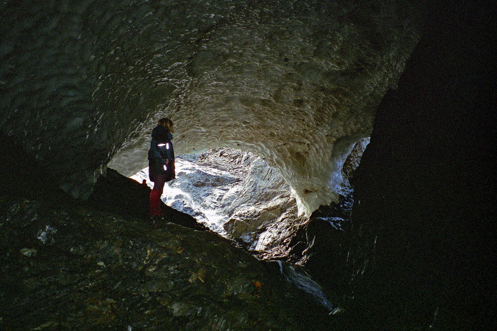 Ice cave at the head of the North Temple