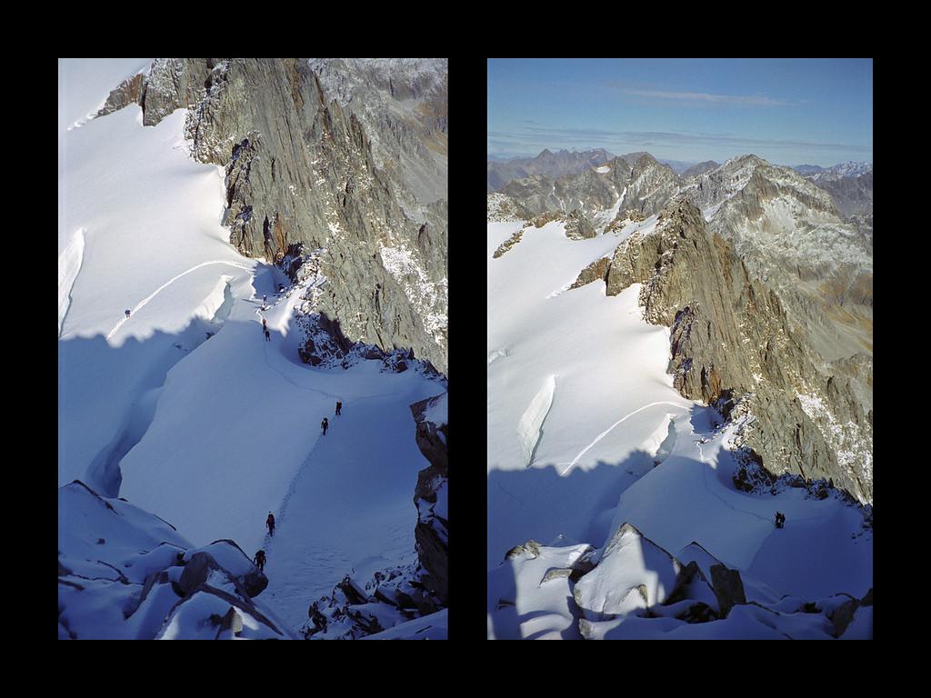 The glacier below the summit