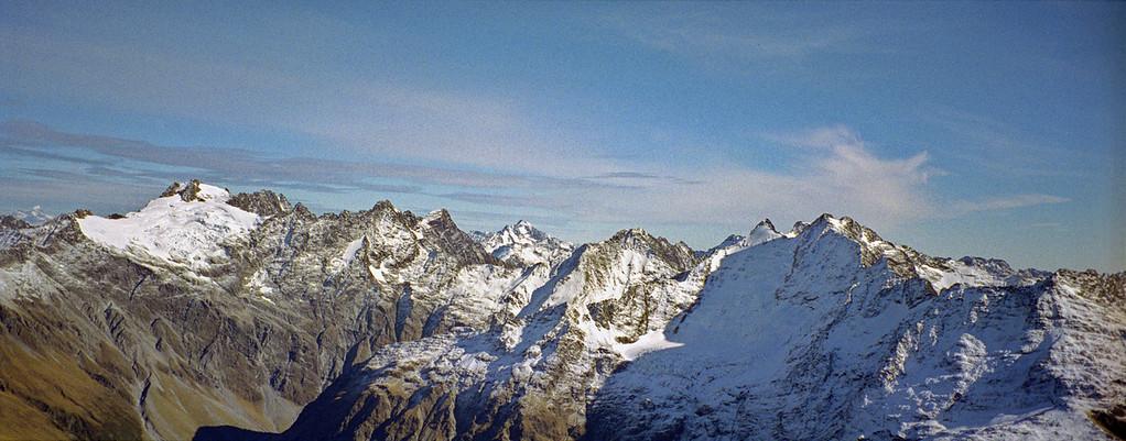 Mt Huxley and Soloist Peak