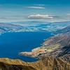 View of Lake Hawea from Sentinel Peak